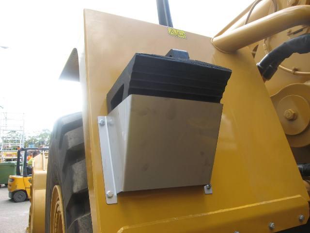 large wheel chock mounted