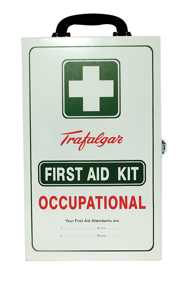 Workplace first aid kit closed