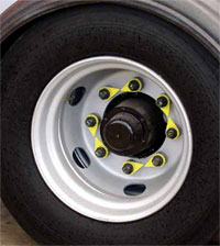 Loose wheel nut indicator pattern