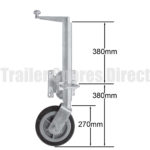 Jockey wheel product image sold at trailer spares direct